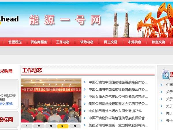 中国石油物资采购网  能源一号网